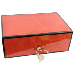Luxury French Jewlery Box Elie Bleu  in Lacquered Wood