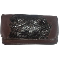Carlos Falchi Alligator Clutch