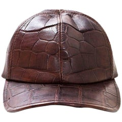 Brown Crocodile Baseball Cap