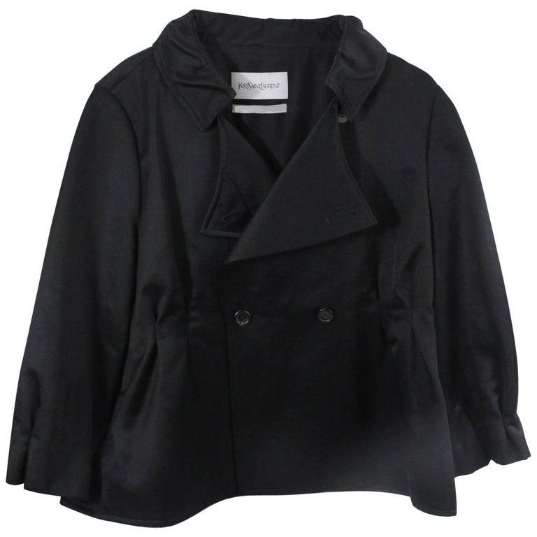 Yves saint Laurent Black Sort Jacket Size FR8