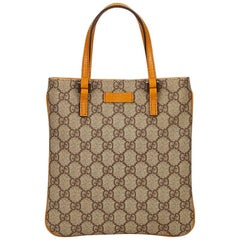 Tan Gucci PVC Guccissima Tote Bag