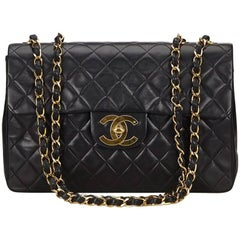 Black Chanel Quilted Leather Maxi Classic Flap Bag