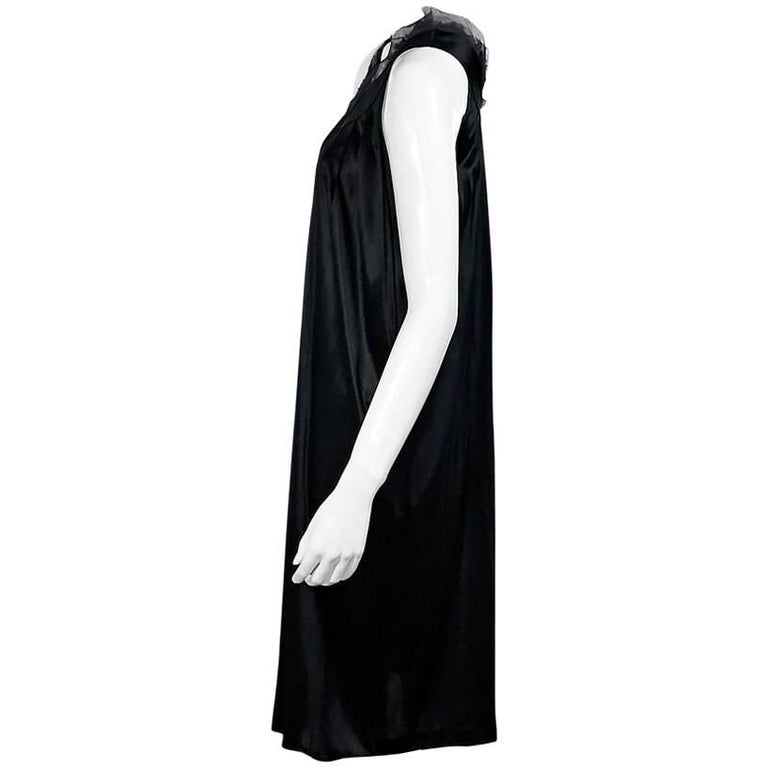 Fendi Dark Green Silk Shift Dress