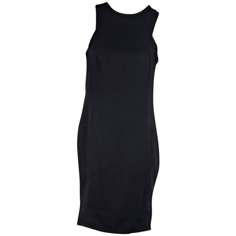 Black Alexander Wang Drape-Back Sheath Dress