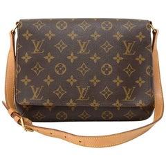 Louis Vuitton Musette Tango Monogram Canvas Shoulder Bag