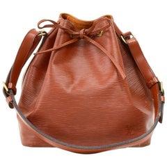 Louis Vuitton Vintage Petit Noe Brown Kenyan Fawn Epi Leather Shoulder Bag