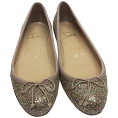 Christian Louboutin Sonietta Glitter Ballet Flat