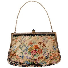 Marilyn Monroe Owned Needlepoint Purse Worn for Marriage to Joe DiMaggio, 1954