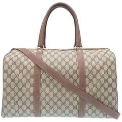 Gucci Monogram GG Supreme Men's Travel Carryall Duffel Tote Shoulder Bag