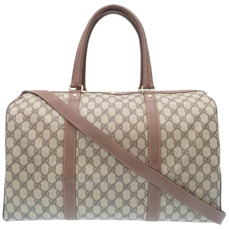 Gucci Monogram GG Supreme Men's Travel Carryall Duffel Tote Shoulder Bag