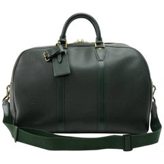 Louis Vuitton Vintage Kendall PM Dark Green Taiga Leather Travel Bag and Strap