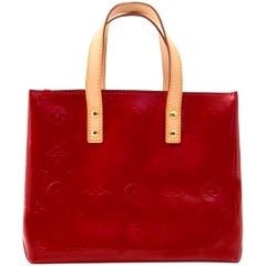 Louis Vuitton Mini Reade Red Vernis Leather Tote Bag