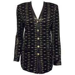 St. John Special Occasion Black Silver and Gold Sequined Jacket