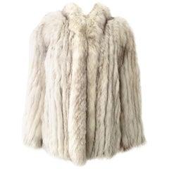 Vintage Winter White Silver Fox Jacket