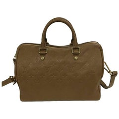 Louis Vuitton Speedy Bandouliere Bag Monogram Empreinte Leather 30