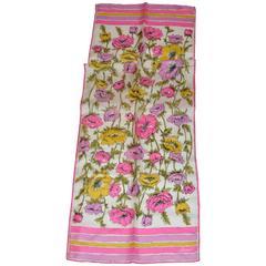 """Burmel Multi-Color """"Floral"""" Silk Scarf"""