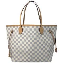 Louis Vuitton Neverfull MM Damier Azur w/ Pochette in box with receipt