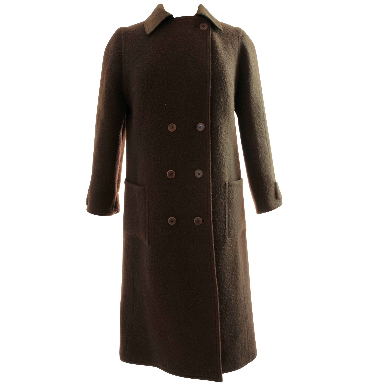 Vintage Hermes Mens Wool Coat