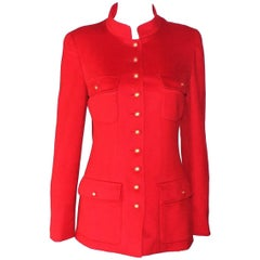 Famous Chanel Pure Cashmere Lipstick Red Signature Jacket Blazer