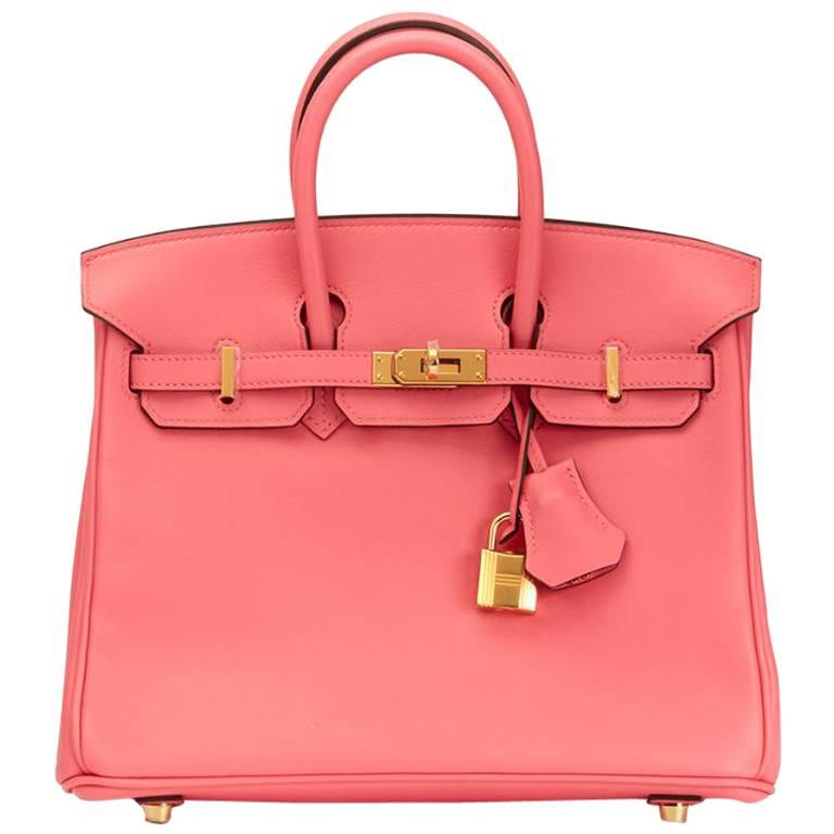 Hermes Swift Leather Birkin Rose Azalee