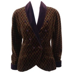 1980's Genny Plush Velvet Smoking Jacket