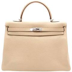 Hermes Parchemin Togo Leather 35cm Kelly Bag
