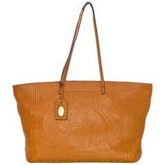 Fendi Tan Selleria Leather Horse Tote Bag