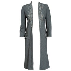Alexander McQueen Embroidered Metallic Bullton Victorian Tails Coat Jacket, 2002