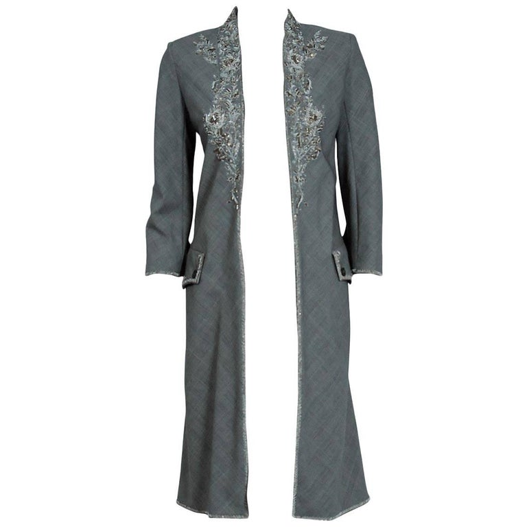 2002 Alexander McQueen Embroidered Metallic Bullton Victorian Tails Coat Jacket