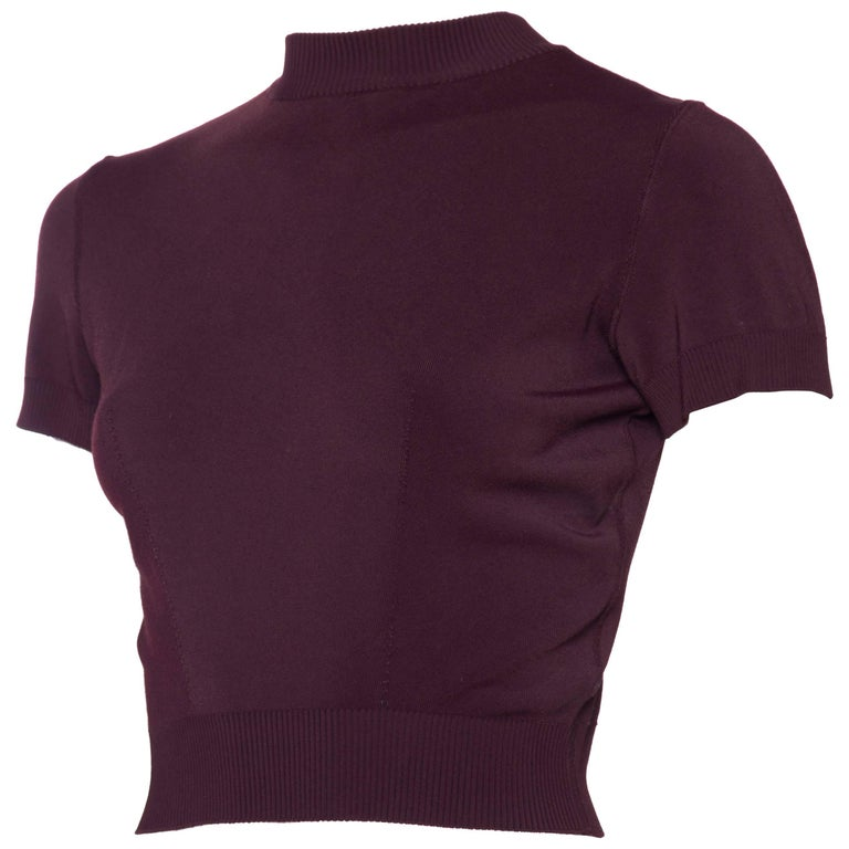 The Perfect 1990s Alaia Cropped T-Shirt For Sale