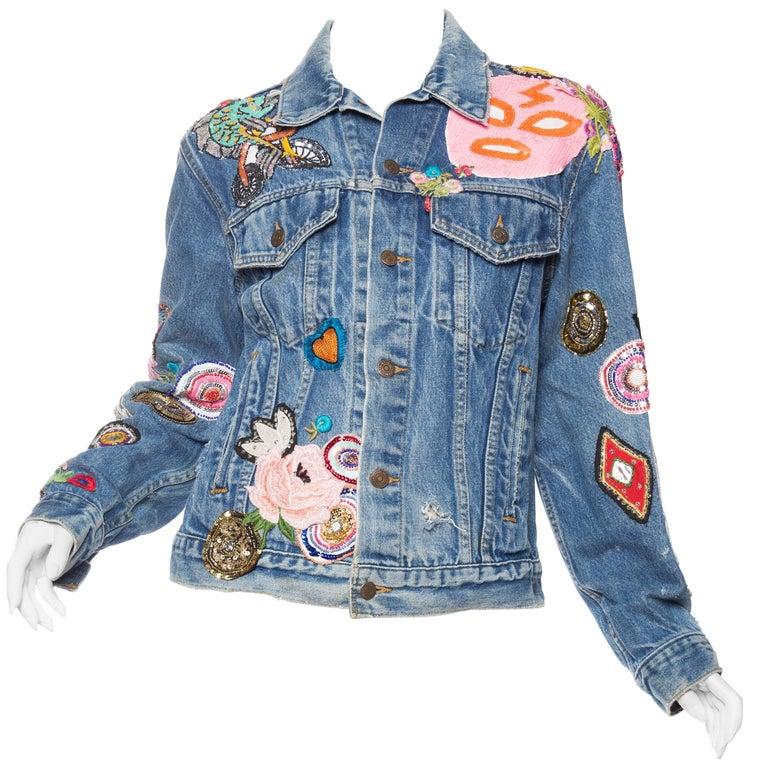 Kara Ross Unleashed X Morphew Graffiti Embellished Levis Jacket