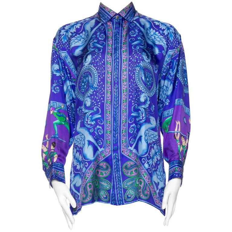 1990s Gianni Versace Baroque Printed Silk Shirt