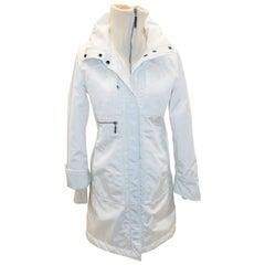 Postcard  white ski  puffer coat jacket sz 0