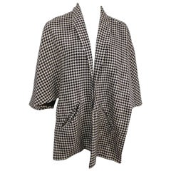 1950s Black & White Houndstooth Stole
