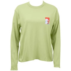 Lucien Pellat-Finet Spring Summer 2002 Lime Green Shirt with Surfer