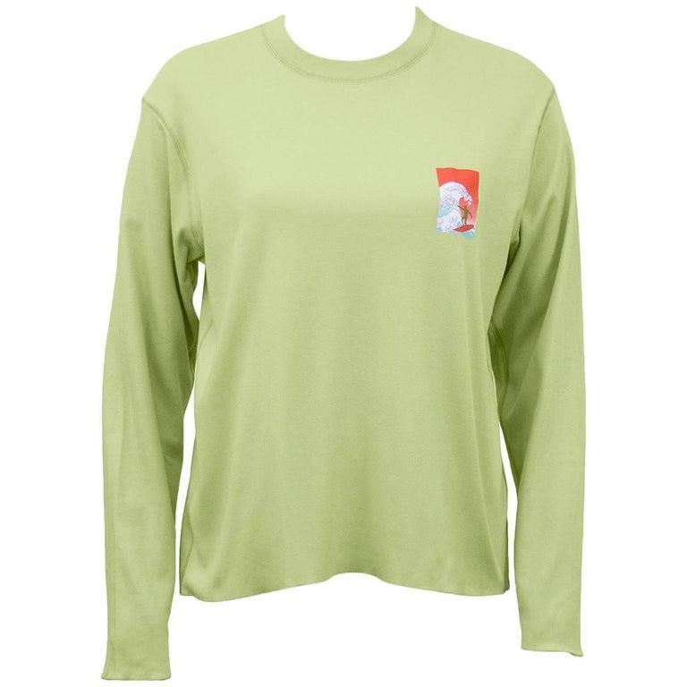 Lucien Pellat-Finet Spring Summer 2002 Lime Green Shirt with Surfer
