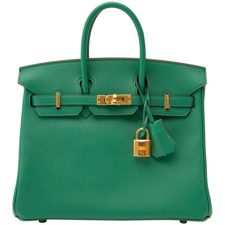 Hermès Birkin 25 Vert Vertigo Swift GHW