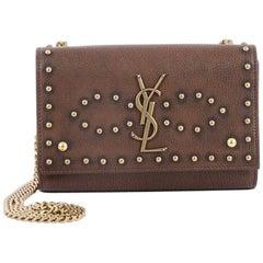 Saint Laurent Classic Monogram Crossbody Bag Studded Leather Medium
