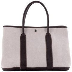 Hermes Garden Party Tote Toile and Leather 30