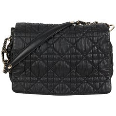 Christian Dior Black Matelasse Leather with Gold Hardwares Delice bag