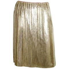 Whiting & Davis Goldtone Metal Skirt