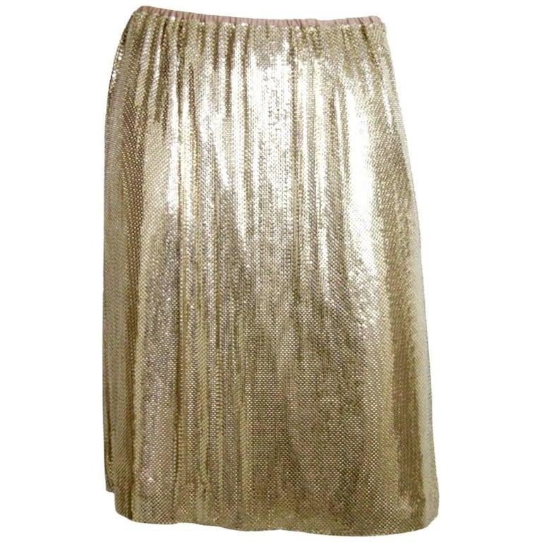 Whiting & Davis Goldtone Metal Skirt