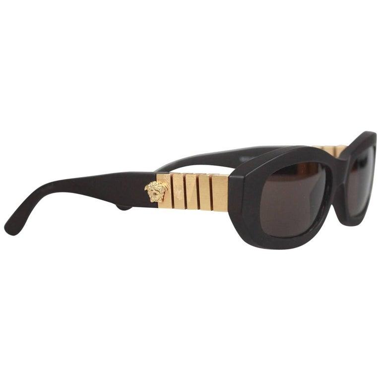Gianni Versace Vintage Medusa Brown Sunglasses 481B Col 915 52-16 NOS
