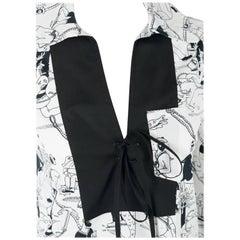 PRADA Womens Cotton Sailor Patch Pullover Collared Poplin Shirt