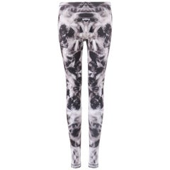 ALEXANDER McQUEEN S/S 2013 Gray Mirrored Iris Print Leggings Pants