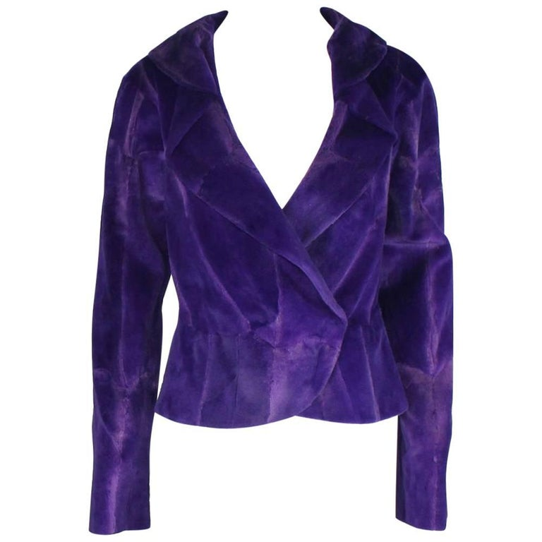 Stunning Gianni Versace Couture Amethyst Fur Jacket