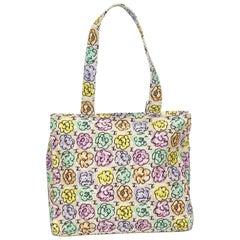 Chanel Multicolor Camellia Printed Shoulder Bag