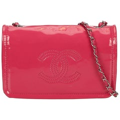 Chanel Pink Patent Leather Chain Bag