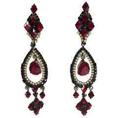 Robert Sorrell Long Clip on Drop Earrings