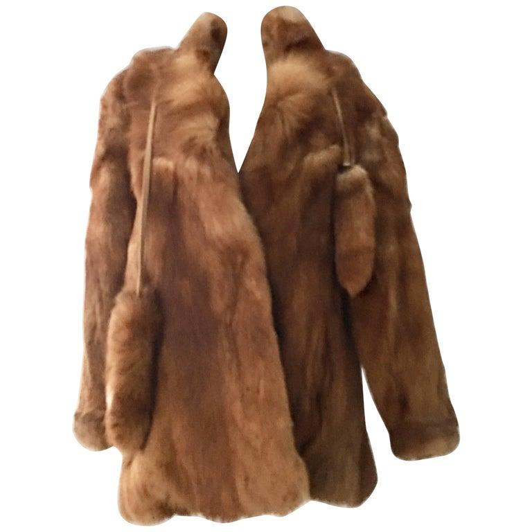 af33a377dd8 20th Century Authentic German Red Fox Fur Coat By
